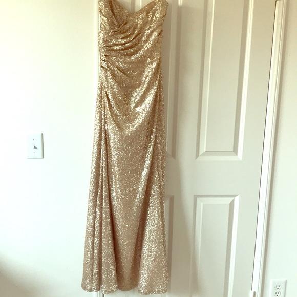 637c2dc6dd8 Sorella Vita Gold Sequin Dress Size 12. M 5b844c504cdc3027ee831522
